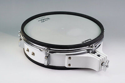 "Roland PD-120 12"" Electronic Drum Pad - White, Dual Trigger Mesh EC - V-Drums"
