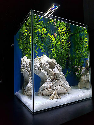 Aquarium Nano Fish Tank with Lid, 30 litre Complete With Led Light and Filter
