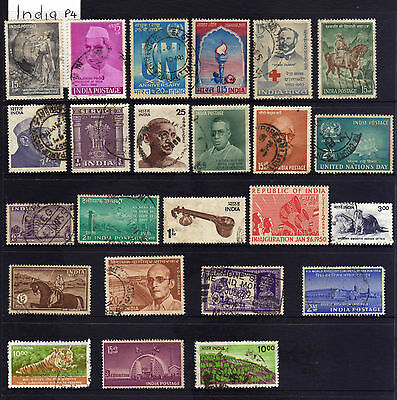 1 page of stamps from India