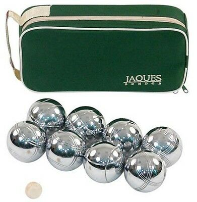 Alloy 8 Bocce Ball Set Polished Outdoor Activity Jaques Of London White New