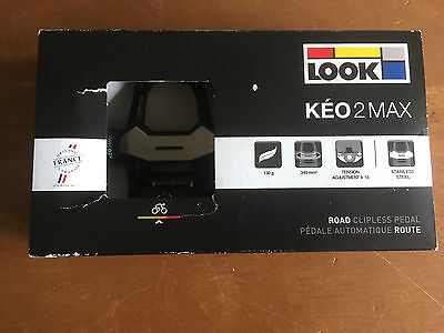 Look Keo 2 Max Pedals - Adjustable Tension - New In Box