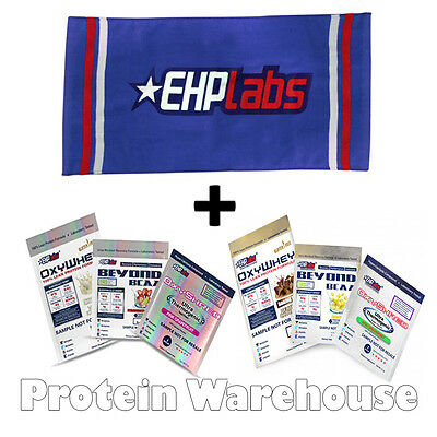 EHPLabs Gym Towel + 6 EHP Labs Pre Workout & Protein Sachets Inc OxyShred £9.99