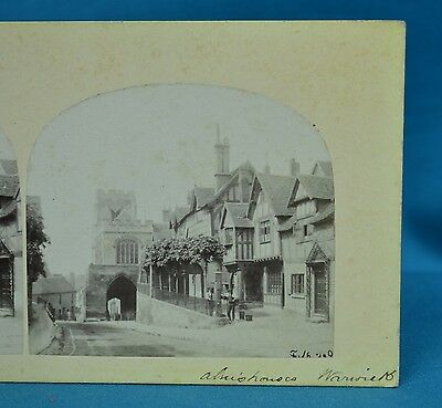 1860s Stereoview Photo Almshouses Warwick Scotland Francis Frith