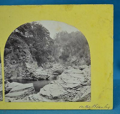 1860s Stereoview Photo On The Beauley Beauly River Scotland Francis Frith