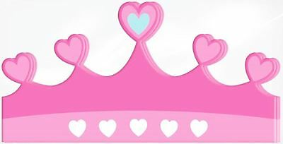 12 Princess Tiara Hat Kids Birthday Party Fancy Dress Accessory Gift Filler Kids