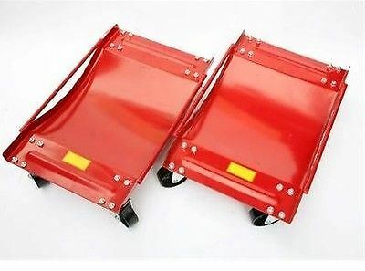 Pair Wheel Dollies 2 Dolly Skate Car/Van Positioning Trolley AU103