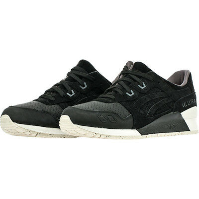 Asics Tiger Mens Gel-Lyte III 3 Perforated Black Classic Retro Shoes  H7E0L-9090