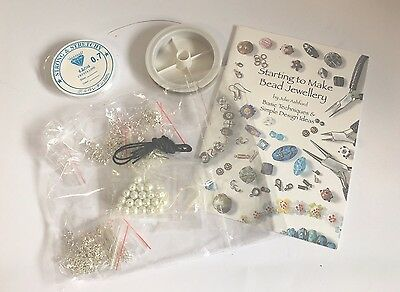 Jewellery Making Kit Silver Findings Instruction Book Starter Pack
