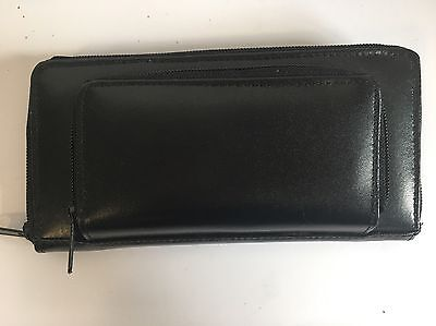 Black Genuine Leather Purse Wallet 20x10cm Compartments/Credit Card /Storage New