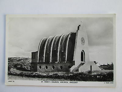 Old RP Postcard - St Mary's Church , Amlwch , Anglesey , North Wales .