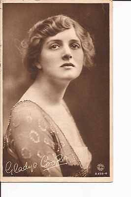 "1917 ""rotary gravure"" postcard ""Gladys Cooper"""