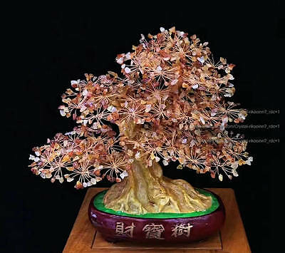 AAA++ Lucky Tree!!! Natural Red Agate Quartz Crystal Gem Tree