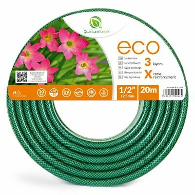 """1/2"""" 20M Reinforced Garden Hose Pipe For Plants Watering Outdoor - Eco"""