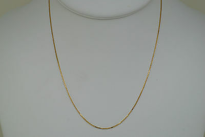 14K solid gold 16 inches fine box link style chain