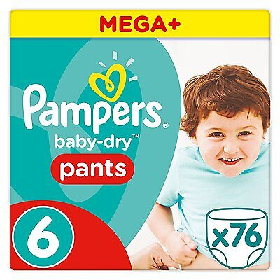 Pampers Baby-Dry Pull Up Pants - Size 6, Pack of 76