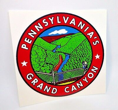 Pennsylvania's Grand Canyon Vintage Style Travel Decal / Vinyl Sticker, 4 inch