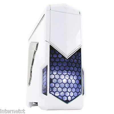 Cit Spectre White Usb 3.0 Gaming Atx Computer Case Inc Cooling Fans Side Window