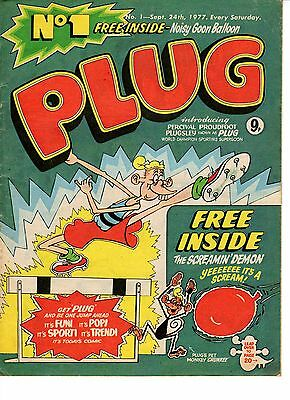 PLUG Issues No.1 to 7 UK COMICS (Beano Related) Great Condition