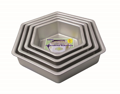 PME HEXAGON Aluminium Birthday Cake Mold Mould Decorating Baking Pan Tin Tray