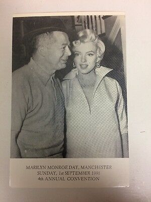 MARILYN MONROE 90s POSTCARD 1954 On Set of 7 Year Itch with Billy Wilder