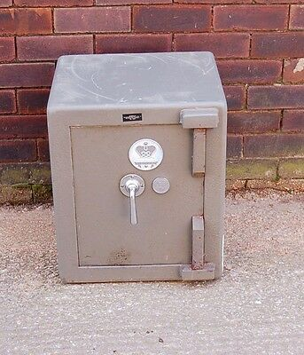 Small Vintage Chubb Stafford Steel Safe High Security Cash Jewellery