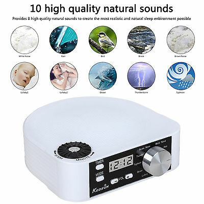 KEDSUM Portable And Stylish White Noise Machine, Sleep Sound Therapy System New