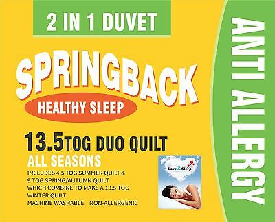 Love2Sleep ALL SEASONS 13.5 TOG DUO QUILT/ DUVET 2 IN 1