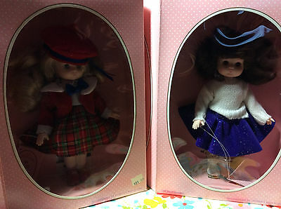 "Vintage Lot of 2 10"" Effanbee ""Li'l Innocents"" Cindy & Audrey 1988  Dolls - NIB!"
