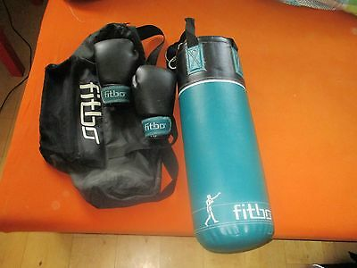 fitbo Set Boxsack + Handschuhe / Boxhandschuhe boxing