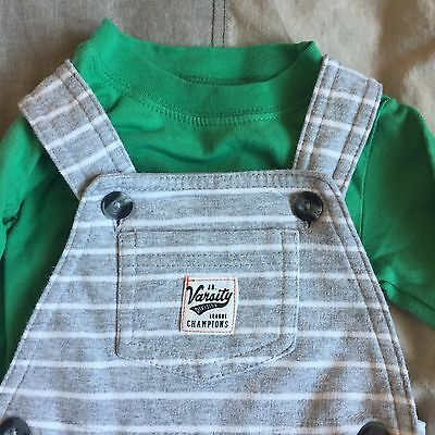 Baby Boys Cotton Dungaree Outfit. From Carters. Age 6 Months.