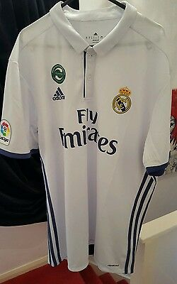 100% Authentic Real Madrid Home Shirt 2016/17 (XL)
