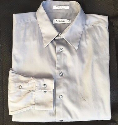 Calvin Klein Mens Grey Smart Casual Tailored Shirt - Collar 17""