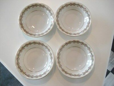 Set of 8 VTG. Czechoslovakia China Floral DESSERT MONKEY DISHES BOWLS GOLD TRIM