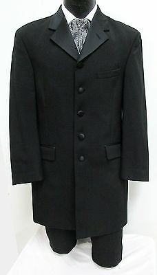 Long Black Tuxedo Jacket Frock Coat Optional Pants & Ascot Steampunk Victorian