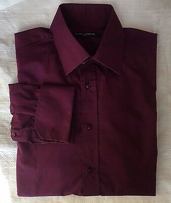 Guide Mens Purple Smart Tailored Shirt - Size Large - Collar 16""