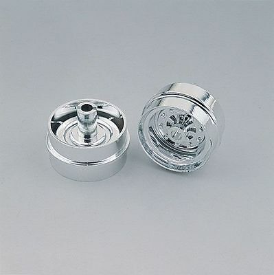 Wedico 1/16th Chromed Rear Wheels for Wide Tyres.1pr