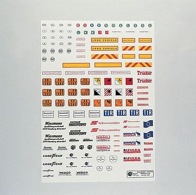 Wedico 1/16th Europa Decal Set for Tractor/Trailer.