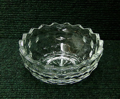 """Homco Glass Candy Dish Bowl (Cube Cubist Jeanette Fostoria American) 5.5"""""""