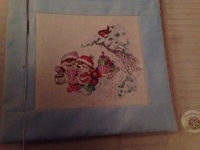 Country Companions Christmas Snowy Scene Cross Stitch Chart