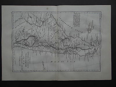 1787 BONNE  Atlas map  CHILI - PATAGONS - CHILE - ARGENTINA - South America