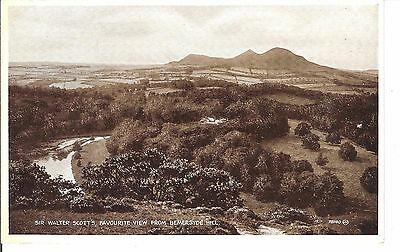 Bemersyde hill view early postcard