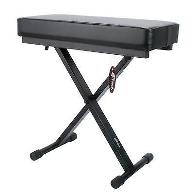 Keyboard Stool with Padded Seat - Portable Adjustable X Frame Piano