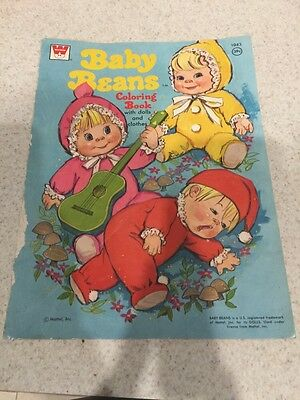 Whitman Baby Beans 1043 Vintage Coloring Book Paper Dolls