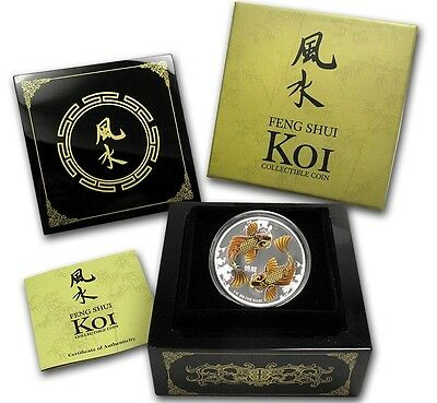 2012 Feng Shui Koi Silver $2 Coin - New Zealand Mint  *Best Value *1st In Series