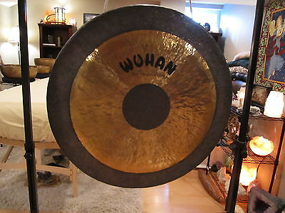 """34"""" Wuhan Chau Gong - Tam Tam - China - W/ Mallet - Great Condition + Audio Link"""