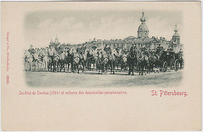 Russie Russia St Petersbourg - Petersburg - Smolny and carriages c1903