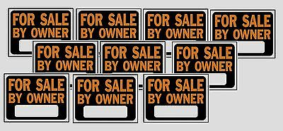 "10 Count Hy-Ko FOR SALE BY OWNER SIGN Selling Yard Lawn Property 9"" x 12"" 3007"