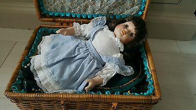 Porcelain Doll with accessories