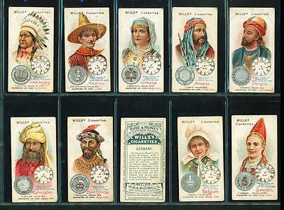 10 x TIME & MONEY IN DIFFERENT COUNTRIES – WILLS – 1908