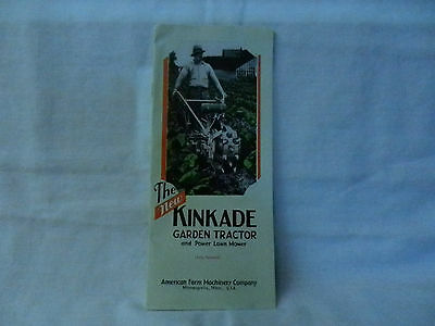 1938 Vintage The New Kinkade Garden Tractor Catalog  Very Nice Condition